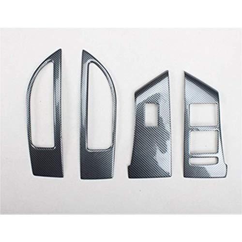 4pcs / lot ABS Fibra de carbono Grano o Cubierta de decoración de panel de elevación de ventana de coche de madera, para 2009~2014 OPEL ASTRA J P10