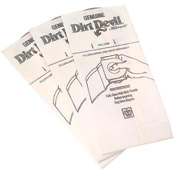 Dirt Devil Type G Handheld Vacuum Bags (3-Pack), 3010347001, White, 3 Count