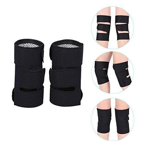 DEWIN Selbsterwärmende Knieschützer- Turmalin Selbsterhitzende Magnetfeldtherapie Knieschutz Arthritis Brace Support 1 Paar