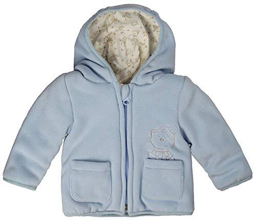 Kanz Jungen Baby Jacke Fleecejacke m. Kapuze 1/1 Arm 0003507 (Blau (Skyway Blue 3018), Gr. 92