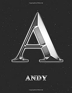 Andy: 1 Year Daily Planner (12 Months) for 2021   Silver Effect Letter A Initial First Name   2021 - 2022   365 Pages for ...