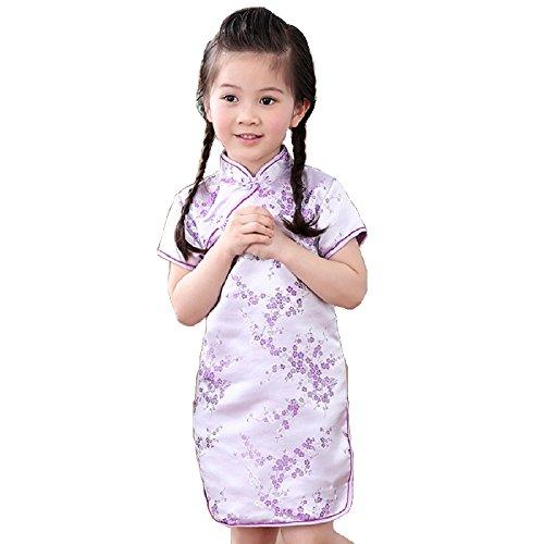 Hooyi Baby Girl Qipao Short Sleeve Dress Chinese...