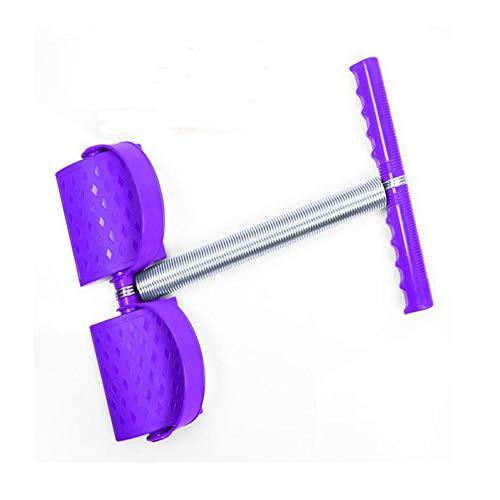 WXH 2 STÜCKE Elastische Sitzen Zugseil Federspannung Fußpedal, Bauch Beintrainer Bauch Trimmer Ausrüstung, Multifunktionsfeder Design, Sport Fitness,Purple