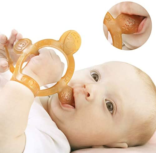 Never Drop from Hand HEORSHE Baby Teething Toys for Babies 3 6 Months Teethers for Infants Toddlers product image