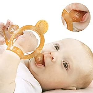 [Adjustable non-dropping watch wristband design]: Teething toys for babies 6-12 months use perfect strap length design, fixed on the little hands like a watchwristband, can easily adjust the size at any time, not easy to lose,it is easy for little h...