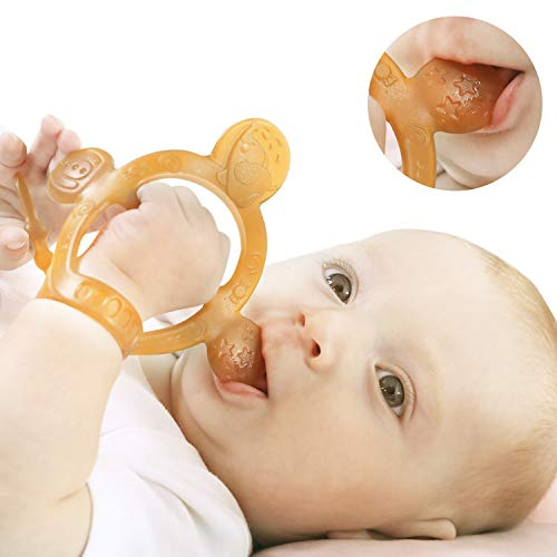 lt Never Drop from Hand gtHEORSHE Baby Teething Toys for Babies 36 Months Teethers for Infants Toddlers BPA Free NonToxic Silicone Molars Adjustable Chew Toys for Babies 3 4 5 6 7 8 9 10 11 12 Months