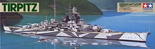 Tamiya 300078015 - Nave da Guerra Tedesca della seconda Guerra Mondiale, Tirpitz, 1:350
