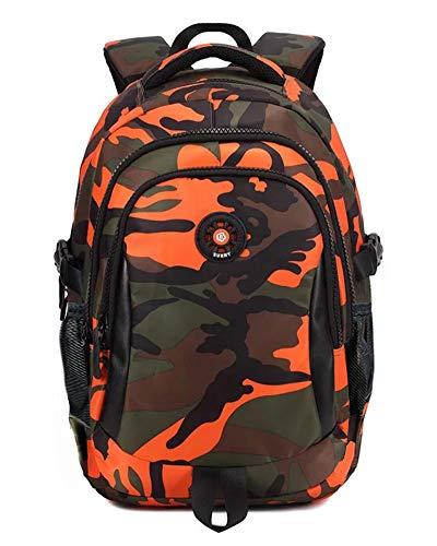 FNTSIC - Bolsas de hombro ligeras de camuflaje para niños, naranja (Camo) (Multicolor) - FTC021-3