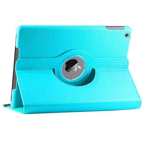 ebestStar - Funda Compatible con iPad 2018 9.7 2017, Air 1 2013 Carcasa Cuero PU, Giratoria 360 Grados, Función de Soporte, Azul [Aparato: 240 x 169.5 x 7.5mm, 9.7'']