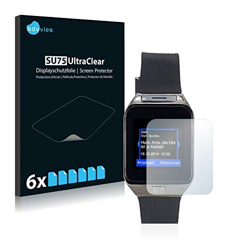 Savvies 6X Schutzfolie kompatibel mit Simvalley Mobile PW-430.mp 2016 Bildschirmschutz-Folie Ultra-transparent