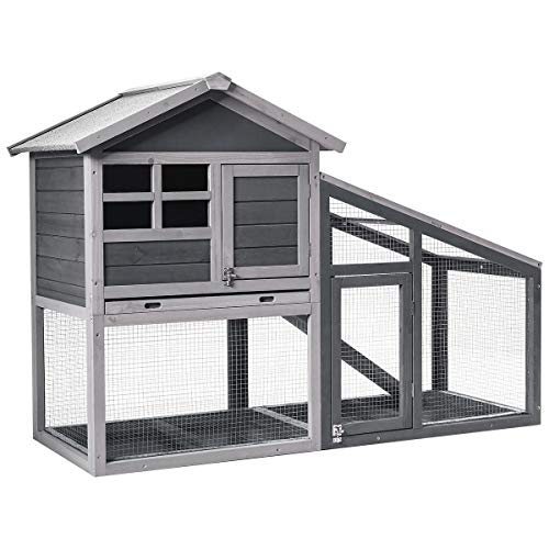 Tangkula Large Chicken Coop with Ventilation Door, Removable...