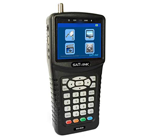 Check Out This SATLINK WS-6920 DVB-S/S2 Digital Satellite Finder Meter with MPEG-2/MPEG-4 3.5inch TF...