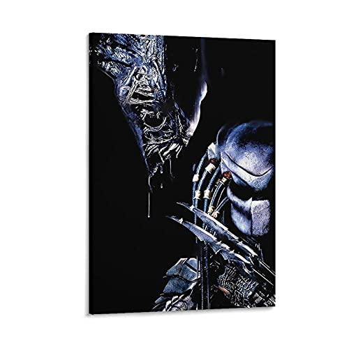 GHASDF Póster decorativo de Alien Vs Depredator de la película de la pintura de la pared del arte de la pared de la sala de estar carteles del dormitorio pintura de 50 x 75 cm