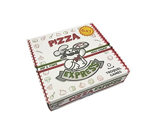 Troquel Games - Pizza Express, 6 Juegos en 1 con Recetas, Bases de Pizza e Ingredientes, de 2 a 6 Jugadores a Partir de 5 Años - 14 x 13 x 3,5 cm
