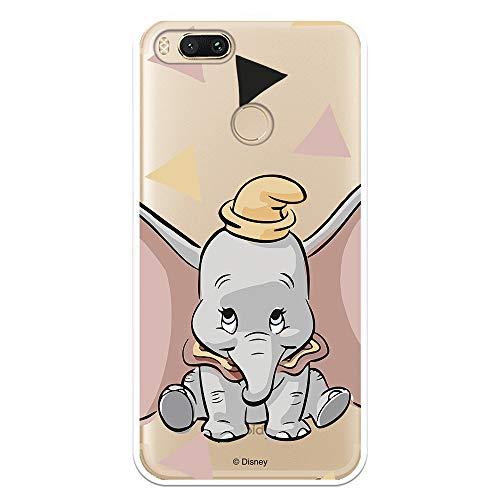 Funda para Xiaomi Mi A1-Mi 5X Oficial de Dumbo Dumbo Silueta Transparente para Proteger tu móvil. Carcasa para Xiaomi de Silicona Flexible con Licencia Oficial de Disney.