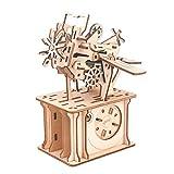 Leic Caja de música de Madera 3D Clip de Fotos 135 Piezas 3D Montaje Manual mecánico Modelo de Rompecabezas de Corte por láser Juguete Creativo Regalo para niños Adultos