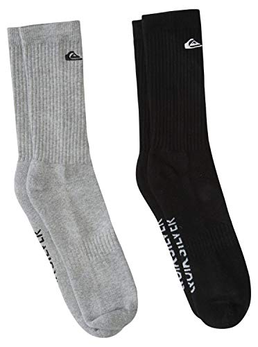 Quiksilver Solid - Crew Socks for Men - Crew Socken - Männer - 10-13 - Grau