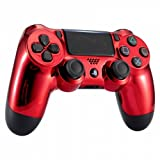 Chrome Red Playstation 4 PS4 Dual Shock 4 Wireless Custom Controller
