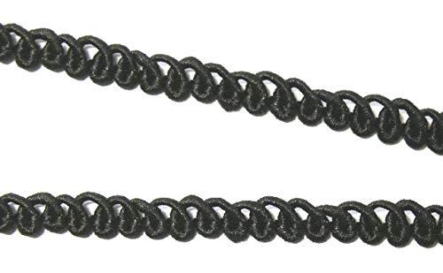 10m Posamentenborte 5mm breit Farbe: Schwarz DT280