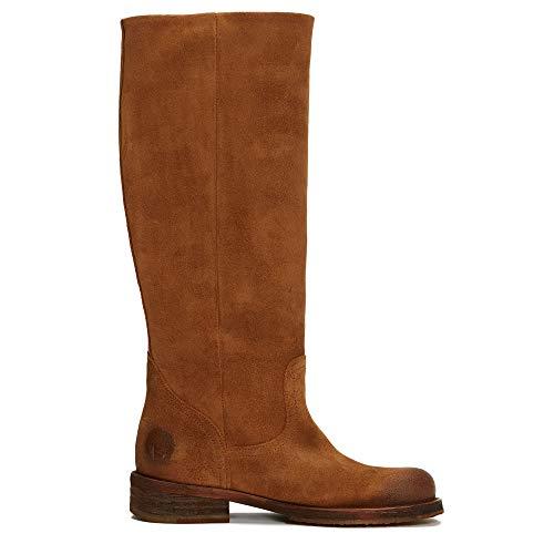 Felmini - Damen Schuhe - Verlieben COOPER A712 - Cowboy & Biker Stiefel - Echtes Leder - Braun - 38 EU Size