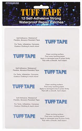 stormsure TUFFSETL TUFF Tape Set 12 Stück sortierte selbstklebende wasserdichte Reparaturflicken transparent