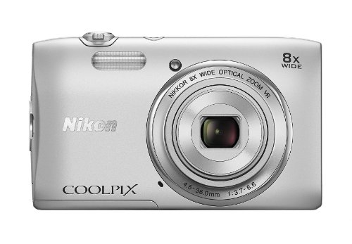 Nikon COOLPIX S3600 20.1 MP Digital Camera with 8x Zoom NIKKOR Lens and 720p HD Video (Silver) (Discontinued by Manufacturer)