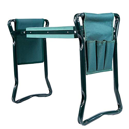 MPZZ Garden Kneeler Seat with Bonus Tool Pouch Foldable Stool for Easy Storage,EVA Foam Pad-Protect Your Knees Outdoor Foldable Gardening Tools for Gardeners