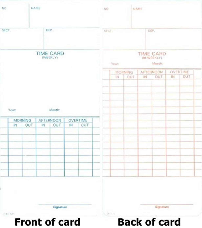 うなり声全滅させる証拠COMPUMATIC ctr121時間カード、250時間カード、Weekly &隔週Pay期間 1000 Cards
