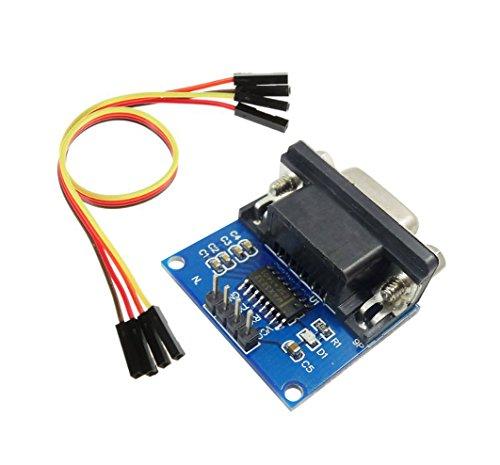 Aihasd RS232 zum TTL Female serielle TTL Module MAX3232 DB9 Stecker Mit 4P Kabel