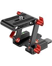 Nyare uppgraderad Z-Flex lutningshuvud Z typ stativhuvud med 4 justering/fixeringsknapp, snabbfrigörande platta och vattennivå för stativ/DSLR-kameror videokameror/glidare, aluminiumlegering/ladda upp till 6,6 pund