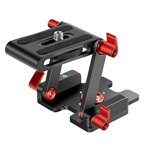 Neewer Upgraded Z-Flex Tilt Head Z Type Tripod Head with 4 Adjust/Fixing Knob, Quick Release Plate and Spirit Level for Tripod/DSLR Cameras Camcorders/Slider, Aluminium Alloy/Load Up to 6.6 Pounds