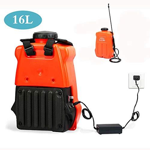 TZYY Pulverizador de Presión Eléctrica, Rociador de Jardín con Batería de Litio 12V-12A, para Herbicidas y Desinfección, 16L