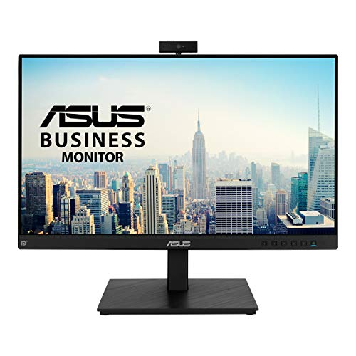 ASUS BE24EQSK 60,45 cm (23,8 Zoll) Video Conferencing Monitor (Full HD, IPS, rahmenlos, Full-HD-Webcam, Mikrofon-Array, Stereo-Lautsprecher, HDMI, DisplayPort, D-Sub)