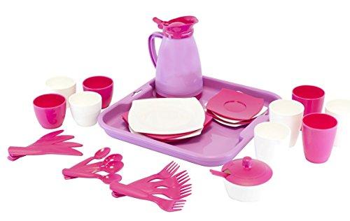 Wader Quality Toys Service auf Tablett 34-teilig, Girls