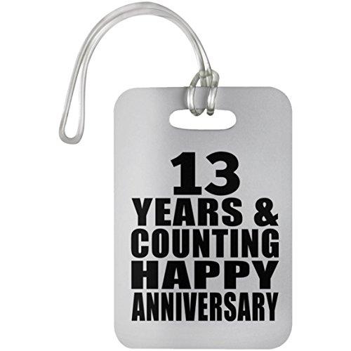 Designsify Happy 13th Anniversary 13 Years & Counting - Luggage Tag Gepäckanhänger Reise Koffer Gepäck Kofferanhänger - Geschenk zum Geburtstag Jahrestag Muttertag Vatertag