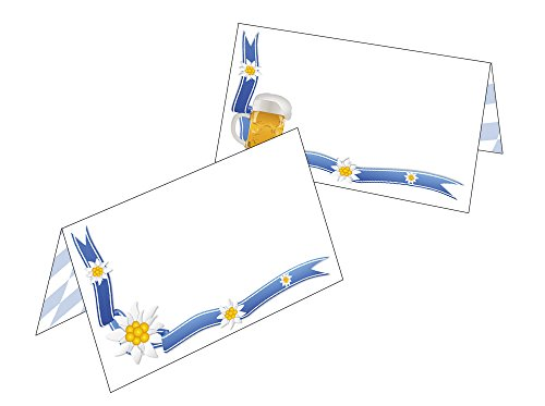 Tafelkaarten/cadeauhangers Bayern - Bier + Edelweiß 2519 25 Tischkarten