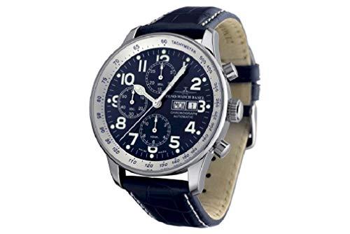 Zeno Watch Basel Herren Uhr Analog Automatik mit Leder Armband P557TVDD-b4