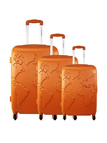 ZIFEL Set de 3 trolleys rígidos 6016 Naranja Oscuro 71 cm