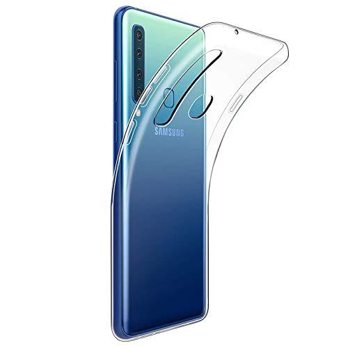 TBOC Transparent Gel TPU Hülle für Samsung Galaxy A9 (2018) A920F (6.3 Zoll) Superdünn Flexibel Silikon Gehäuse für Handy [Nicht Kompatibel mit [Samsung A9 (2016)]]