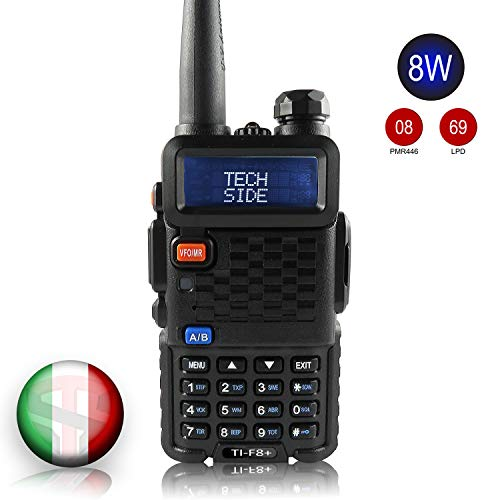 TECHSIDE & BAOFENG MODELLO PIU' POTENTE 8W | Radio TI-F8+ Dual Band...