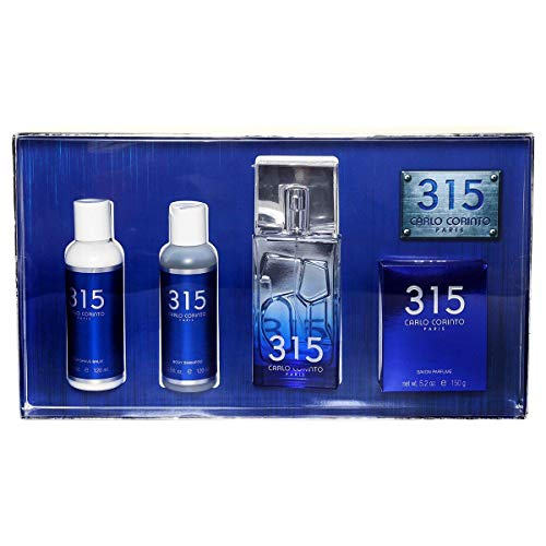SET 4 PZS CARLO CORINTO 315 FOR MEN EDT 100ML