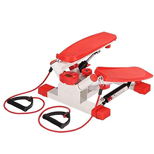 Mini Stepper, Mini Fitness Exercise Machine-Mini Elliptical voetpedaal Stepper Step Trainer Equipment met Resistance Bands Duurzaam Veilige loopband en comfortabel voetpedalen QIANGQIANG