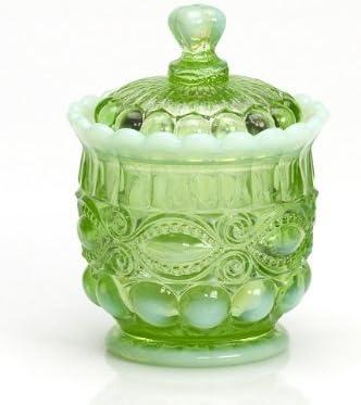 Mosser Sale special price Glass Eye Wholesale Winker Sugar Bowl Opal Green -