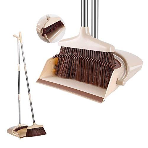 Cozywind Besen mit Schaufel Kehrbesen und Kehrschaufel Kehrgarnitur Kehrset mit Stiel 120cm mit ausziehbarem Besen