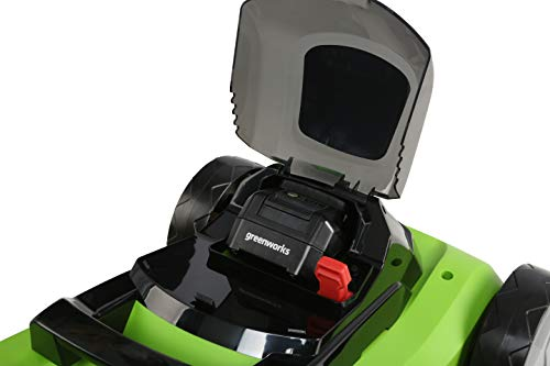 Greenworks MO24B410 24-Volt 13-Inch Lawn Mower, 4Ah Battery and Charger