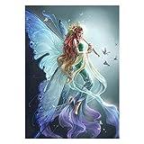 VORCOOL Diamante Pintura Elf Chica Patrón Bordado de Punto de Cruz Pintura por Diamond Home Adornos Z330