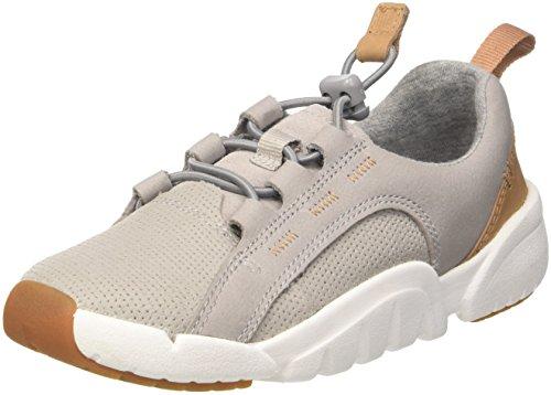 Clarks Jungen Tri Weave. Sneaker, Grau (Grey Leather), 26 EU