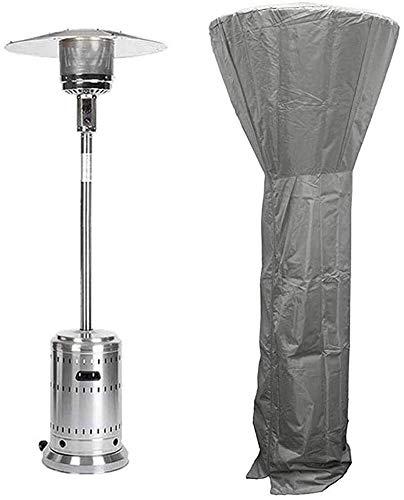 LAZNG Cubierta impermeable para calentador de patio – Protección solar y UV, 210D Oxford tela exterior exterior exterior cubierta protectora de muebles (color: gris)