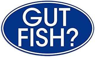 Blue Oval Gut Fish (funny fishing) Sticker