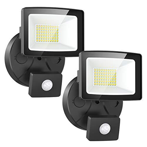 Onforu 2× 30W Foco LED Exterior Sensor Movimiento